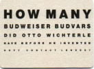 How many Budweiser Budvars did Otto Wichterle have before he invented soft contact lenses?